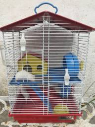 Venda de 3 hamsters mais gaiola