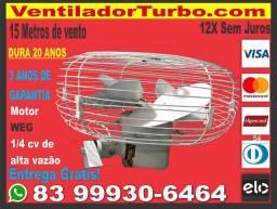 Ventilador Turbo Industrial Super Potente, dura 20 Anos, 15 metros de alcance, Motor 1/4cv