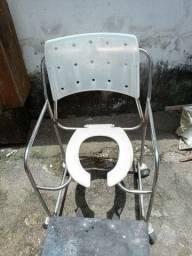 Cadeira de banho adulto toda de aço inox