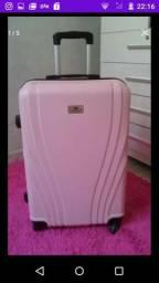 Mala de viagem rosa