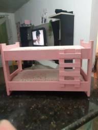Kit móveis de madeira pura para Barbie!