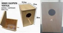 Ninhos para calopsitas vertical e Filhotes