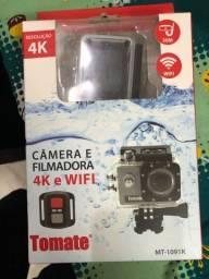 Câmera filmadora 4K e Wi-Fi