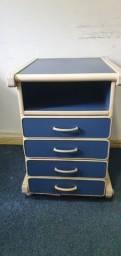 Arquivo móvel 4 gavetas azul