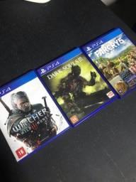 3 Jogos de PS4 (Mídia Física -CD)