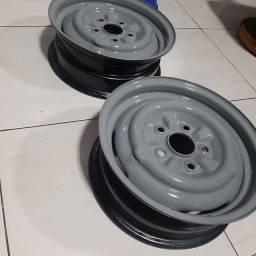 Rodas originais de opala com trava de calotas aro 14