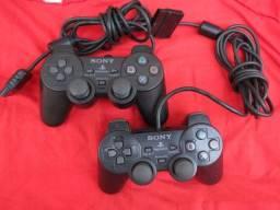 Par de controles originais para Playstation 2 Ps2 Play 2 Sony