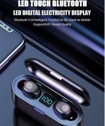 Fone de Ouvido Tws Bluetooth V5.0 Touch Display Led (5x no cartão)
