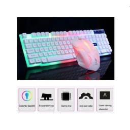 Combo teclado Mouse Gamer Led USB