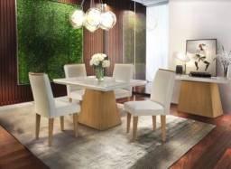 Mesa de jantar New luna 4 cadeiras 90x90 PR/SR GGA618