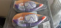 Par de Kit Snorkel com óculos para mergulho - Novo