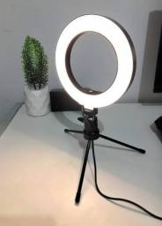 Iluminador De Led Com Tripe Ring Light Usb 16cm 3500k 5500k