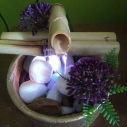 Fonte com bambu com Led