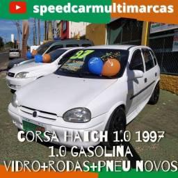 Título do anúncio: Corsa Super 4portas 1.0 1997 - vidro e trava - pneus novos, rodas ok