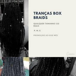 Tranças box braids em promoção