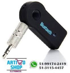 Receptor Bluetooth P2 Auxilar Carro Som Audio Android Musica