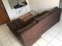 Sofa em L 3 lugares com chaise