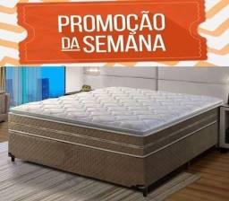 Título do anúncio: Cama Box com Colchão Casal Resistence Novo Entrega Grátis