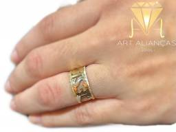 Anel JESUS ouro 18K