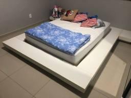 Cama Japonesa casal em MDF + couchão