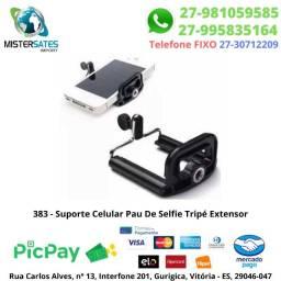 383 - Promoção - Adaptador para celular pau de self e tripé<br><br>