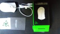 Mouse Razer Essential Deathadder Branco 6400 Dpi - Novo