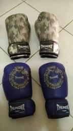 Dois pares de luvas de boxing Thunder semi-novo