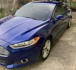 Vendo Ford Fusion Azul Metálico ? Versão 2.5 SE com GNV 5ª Geração regularizado