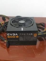 Fonte EVGA 500W 80 plus bronze