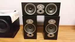 Caixas Acústicas BookShelf Polk Áudio RTiA3 e Central CSiA4