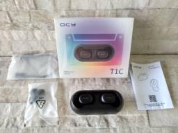 Fone de ouvido Bluetooth Qcy T1c Preto