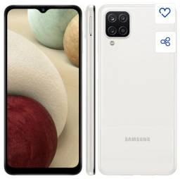 Samsung A12 novo na caixa 1 ano de garantia acompanha 3 capas de brinde