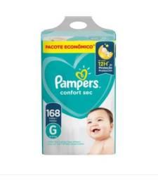 Fraldas Pampers Confort Sec G 168 unidades