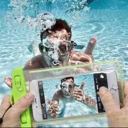 Capa case impermeável celular piscina praia mergulho