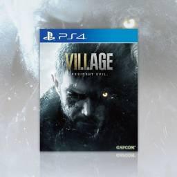 resident evil village ps4, novo lacrado, aceitamos jogos como parte de pagamento