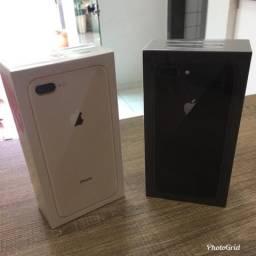 IPhone 8 Plus 64gb novo, aceito seu iPhone usado como parte do pagamento