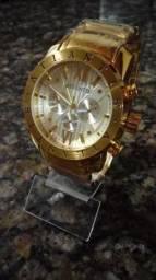 Relógio Atlantis masculino pulseira ali inoxidável