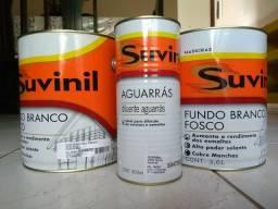 2 Galões 3,6l Fundo Branco Fosco - Madeiras SUVINIL + Diluente Aguarrás 900ml