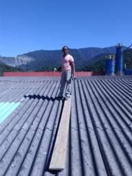 Trabalhamos com manutenção de telhados também fazemos cobertura nova.