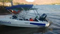 Lancha ,top motor 55 hp yamaha.MUITO BOA - 2014