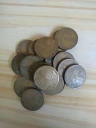 20 moedas antigas de 1 cruzeiro