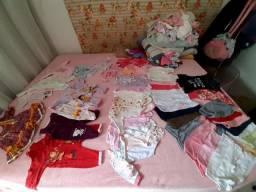 Lote de roupas RN de 0 a 6 meses 53 pecas