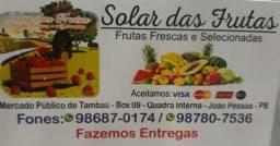 Solar das frutas frutas frescas e selecionadas