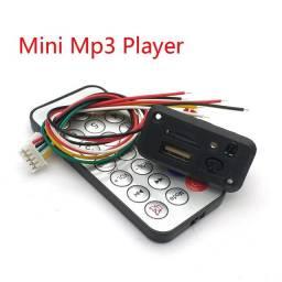 Placa decodificador leitor usb mp3 12v