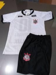 Conjunto infantil Corinthians veste 2 a 3 anos