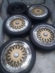 4 rodas com pneu +meia vida scorro  troco