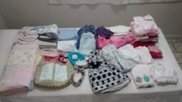 Kit combo de roupas para bebê menina com 66 peças diversas