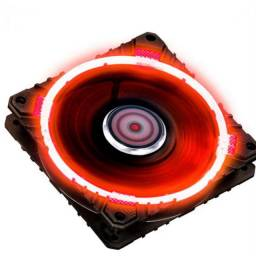Kit 5 cooler fan 120mm Led vermelho