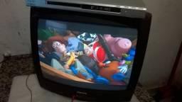 Tv de tubo mais um dvd funcionndo