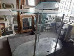 Púlpito de vidro temperado barato